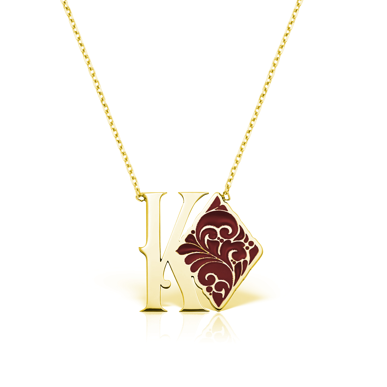 Colier K♦ Gold Plated