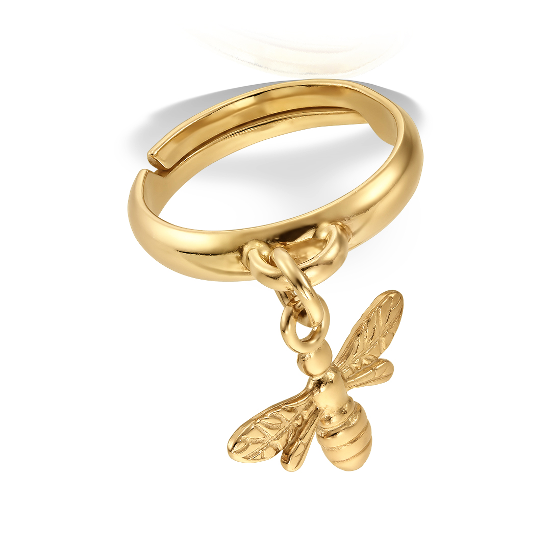 Inel Bee Gold Plated